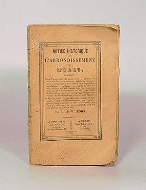 NOTICE HISTORIQUE SUR L'ARRONDISSEMENT DE MURET.: FONS (P.-V.).