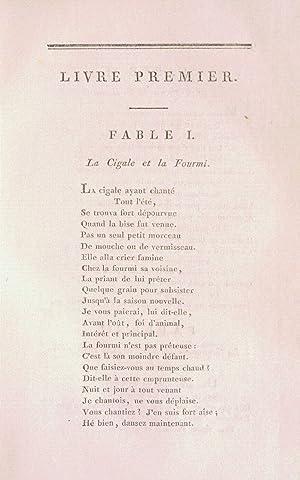 FABLES mises en vers.: LA FONTAINE (Jean de).