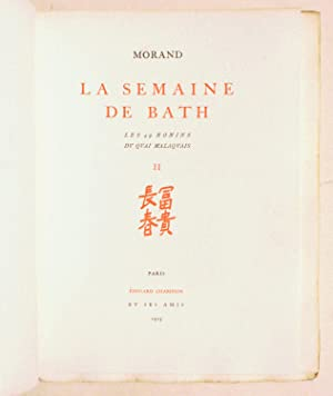LA SEMAINE DE BATH.: MORAND (Paul).