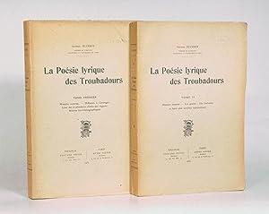 la poesie lyrique des troubadours - AbeBooks