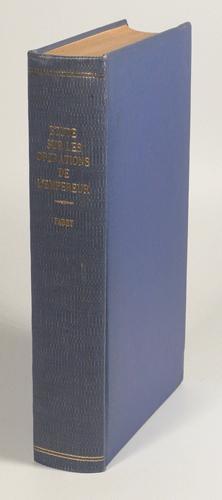 ETUDE SUR LES OPERATIONS DE L'EMPEREUR. 28 août - 4 septembre 1813.: FABRY.
