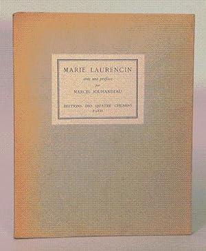 MARIE LAURENCIN. Avec une préface par Marcel Jouhandeau.: JOUHANDEAU (Marcel).