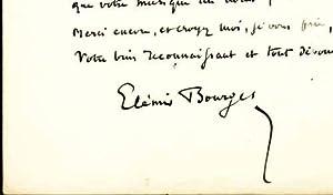 LETTRE AUTOGRAPHE signée adressée au compositeur Gustave Samazeuilh. (1877-1967).: ...