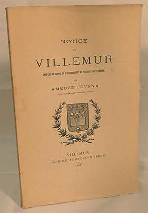 NOTICE SUR VILLEMUR, chef-lieu de canton de l'arrondissement de Toulouse (Haute-Garonne).: ...