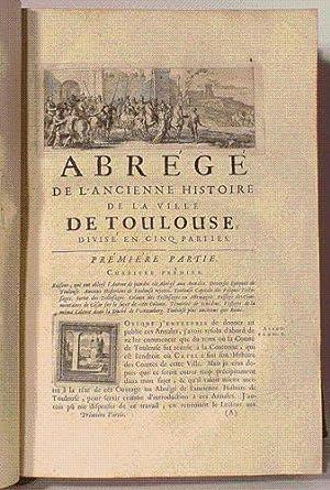 ANNALES DE LA VILLE DE TOULOUSE depuis la réunion de la Comté de Toulouse à la...