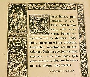 L'ALFABETO DELLA MORTE DI HANS HOLBEIN, Attorniato di fregii incisi in legno, ed accompagnato ...