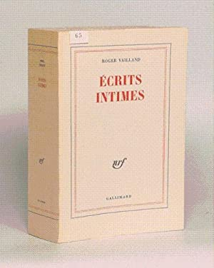 ECRITS INTIMES.: VAILLAND (Roger).