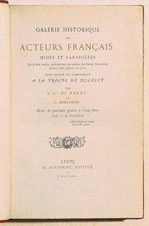 GALERIE HISTORIQUE DES ACTEURS FRANCAIS, MIMES ET PARODISTES qui se sont rendus célè...