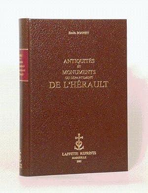 ANTIQUITÉS ET MONUMENTS DU DÉPARTEMENT DE L'HÉRAULT. Avec une pré...