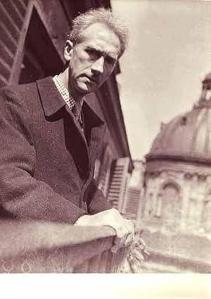 """PHOTOGRAPHIE ORIGINALE. """"Portrait de Joseph Delteil au balcon"""".: DELTEIL (Joseph)."""