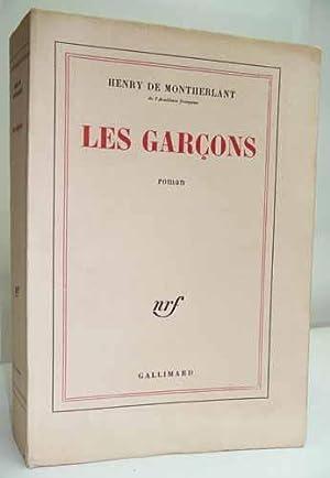 LES GARCONS. Roman.: MONTHERLANT (Henry de).
