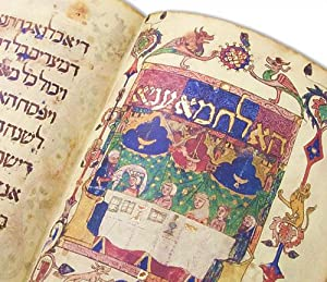 The Barcelona Haggadah (Fine Illuminated Facsimile Edition of Original Manuscript from the Mid-14th...