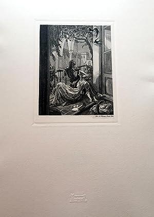 Rimas de Gustavo Adolfo Bécquer. Ilustraciones de Carlos Saenz de Tejada, grabadas al buril de por ...