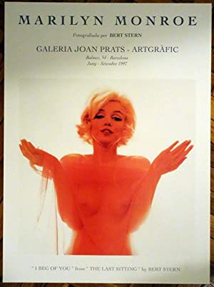 "Poster Affiche Plakat - MARILYN MONROE - BERT STERN. JOAN PRATS 1997 - ""I Beg of You - The Last..."