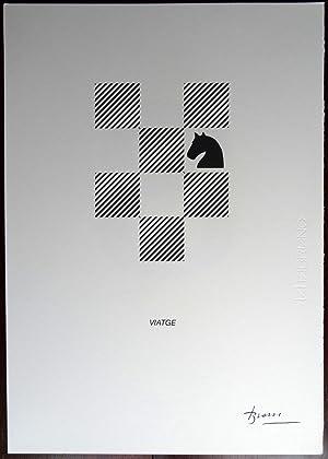 Joan Brossa - Viatge - (Serigrafia facsímil): Joan Brossa