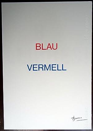 Joan Brossa - Blau Vemell (Serigrafia facsímil): Joan Brossa