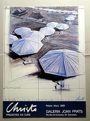 Poster Affiche Plakat - Christo, projectes en curs, 1986 (Signed): Christo