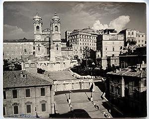 Roma, Plaza D'Espagna - George Friedman - (Carpeta de los Diez) - Fotografia original (Vintage)...