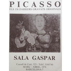 Poster Affiche Plakat - Sala Gaspar. Els 156 darrers gravats originals. 1978: Picasso