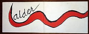 VERNISSAGE INVITACION GALERIA MAEGHT CALDER 1976