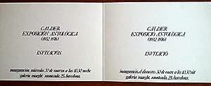 VERNISSAGE INVITACIÓN CALDER GALERIA MAEGHT 1976: Calder