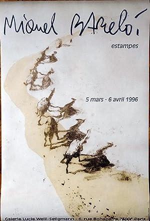 Poster Affiche Plakat - Miquel Barceló 1996: Miqquel Barceló