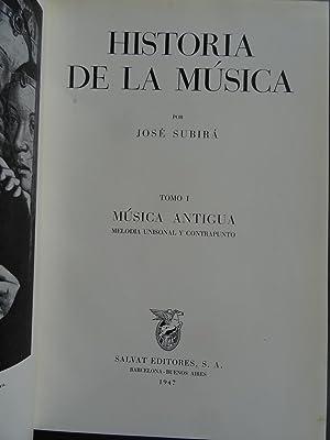 Historia De La Musica 2 Vol.: Subirà