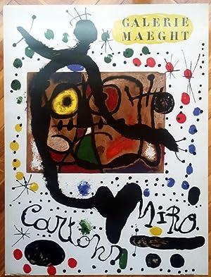 Poster Joan Miró. Cartons 1966 Maeght. Reprodution: Joan Miro