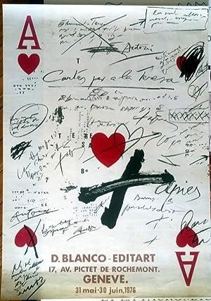 """Poster Affiche Plakat - Tàpies """"Cartes per a la Teresa"""" 1976 - D. Blanco-Editart: Antoni ..."""