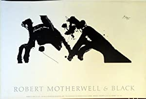 Lithographic poster - Robert Motherwell & Black 1979: Robert Motherwell