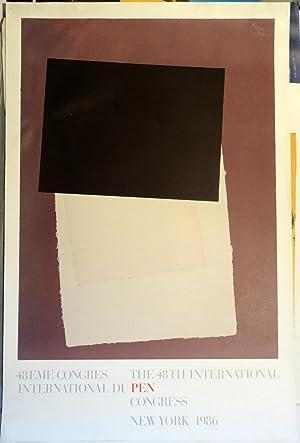Poster Affiche Plakat - Motherwell 48th International du PEN Congress 1986: Robert Motherwell