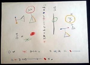 "Joan Miró - Dust jacket Lithograph of the book ""Parler Seul"" Unsigned: Joan Miró/Tzara"