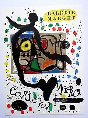 Poster Affiche Plakat - Joan Miró. Cartons 1966 Maeght: Joan Miró