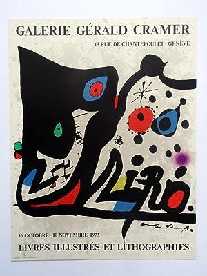 Poster Affiche Plakat Joan Miró.Livres illustrés et lithografies.1973: Joan Miró