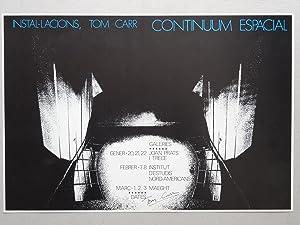 Poster de la exposicion Continuum Espacial Galeria Trece, Galeria Joan Prats, Galeria Maeght, ...