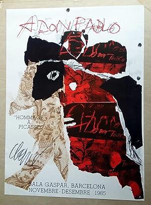 Cartel Hommage a Picasso - Antoni Clavé: Antoni Clavé