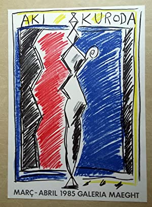 Cartel Aki Kuroda - Galeria Maeght 1985: Aki Kuroda