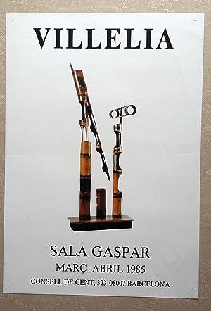 Cartel Villelia Sala Gaspar 1985: Villelia