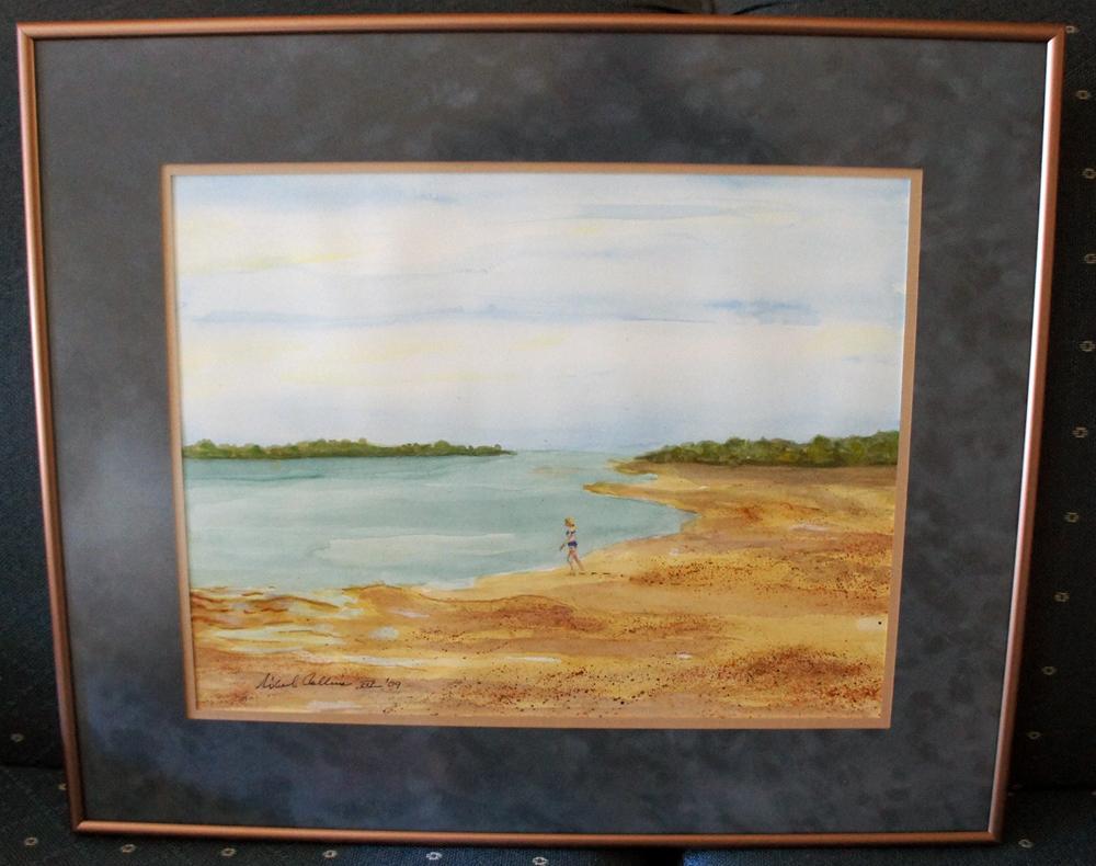 Michael Collins Signed Original Watercolor Painting Michael Collins
