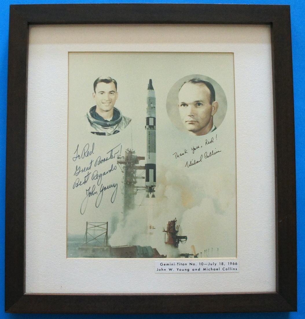 Michael Collins and John Young Signed Association Photo Michael Collins