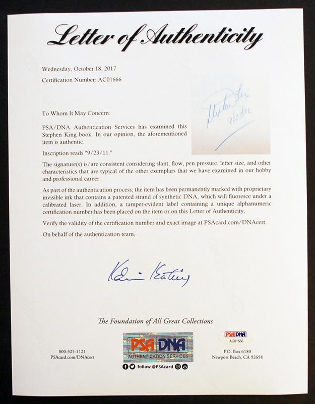 Carrie Signed 1st Psa Certified Custom Slipcase By Stephen King