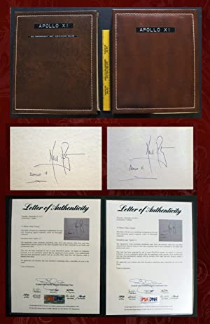 Two Neil Armstrong Signed Apollo 11 Scrapbooks,: Neil Armstrong