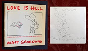 Love Is Hell (SIGNED, with original drawing): Groening, Matt