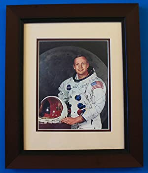 Neil Armstrong Signed & Framed Photo: Neil Armstrong