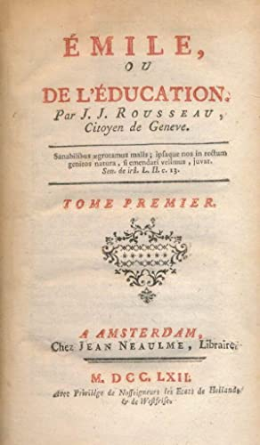 Emile, ou de l' Education par J.J.: Jean-Jacques ROUSSEAU