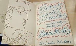 Poèmes de Charles d'Orléans. Manuscrits et illustré: Henri MATISSE -