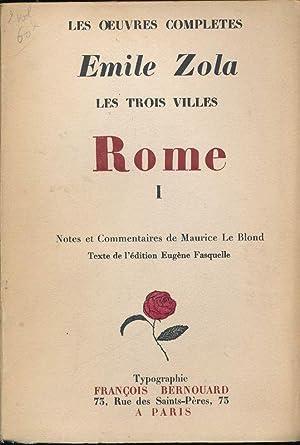 Les trois villes. Rome. 1: Emile ZOLA
