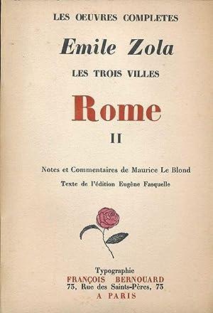 Les trois villes. Rome. 2: Emile ZOLA