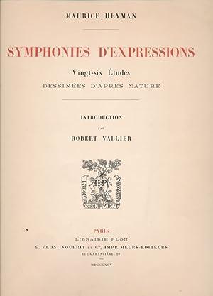 Symphonies d'expression. Vingt six études dessinées d'après nature: ...