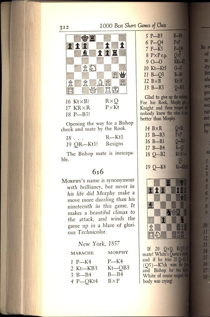 0671538012 - 1000 Best Short Games of Chess by Chernev ...